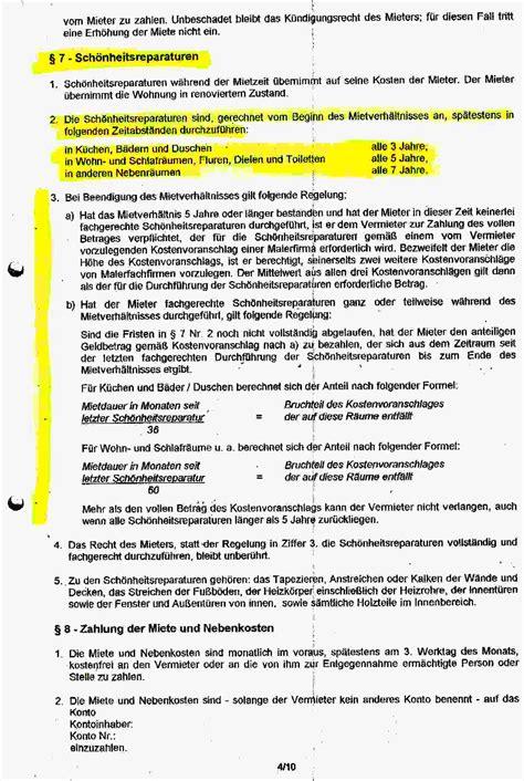 Mieter Und Vermieter Vorsicht Mit Diesen Klauseln by Sch 246 Nheitsreparaturklauseln In Mietvertr 228