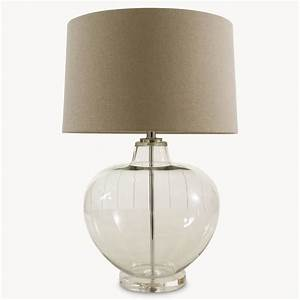 Clear glass table lamp for Glass table lamps