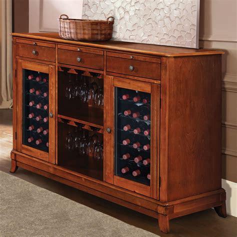 liquor cabinet with wine fridge the sommelier 39 s dual temperature wine credenza hammacher