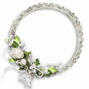 White Round Flowers Transparent Frame | Wedding frames ...