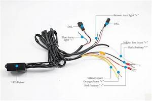 Luxen Intelligent Led Wiring Harness Control Unit For Drl