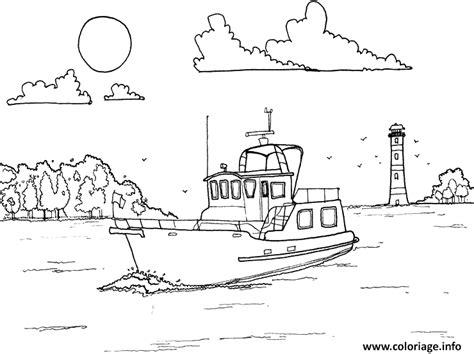 Dessin Bateau Au Port coloriage bateau qui rentre au port dessin