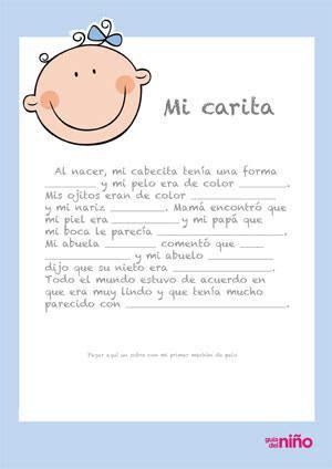 mi carita diario del primer ano del bebe