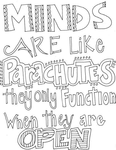 Inspirational Coloring Quotes by 1 Quotes Motivational Quote Coloring Pages Mental Health