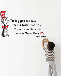 dr seuss 39youer than you39 wall decal by molls designs With kitchen cabinets lowes with dr seuss wall art quotes