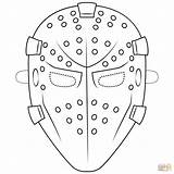 Mask Goalie Coloring Template Hockey Printable Halloween Masks Drawing Supercoloring Paper Drama Mrs Pass Please Puzzle Categories sketch template