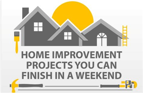 Home Improvement Projects You Can Finish In A Weekend