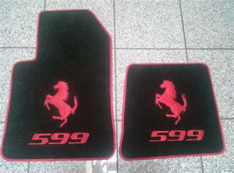 ferrari embroidered floor mats  interior accessories