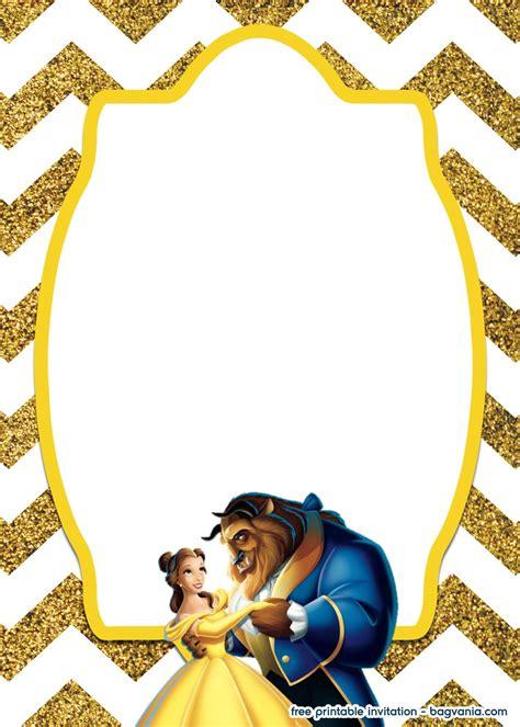 royal beauty   beast invitation template
