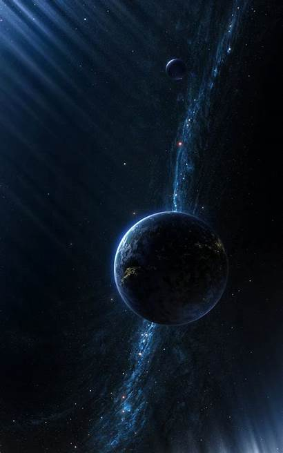 Portrait Space Universe Galaxy Milky Planet Way