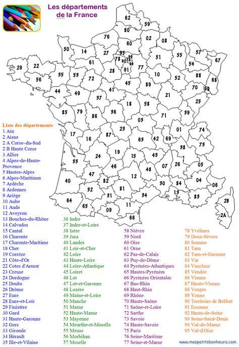 Carte De Par Département à Colorier by Info Departement De Liste