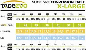 Mens Size Chart Conversion We Also Offer Mens Shoes In Very Large Sizes Use The