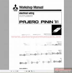 Mitsubishi Pajero Pinin Workshop Manuals 1999