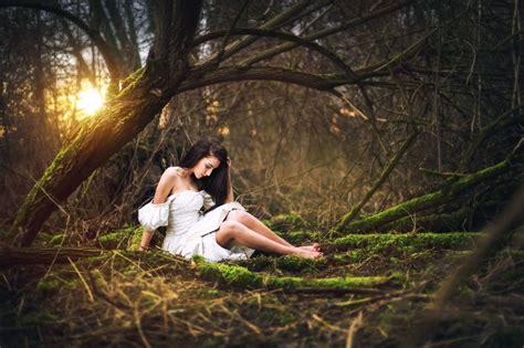 women outdoors model women trees wallpapers hd
