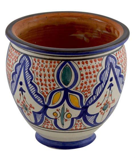 Mexican Pot by Moroccan Mediterranean Flower Pot Ceramic Drain Terracotta