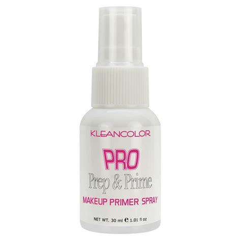 pro prep prime makeup primer spray kleancolor exotik