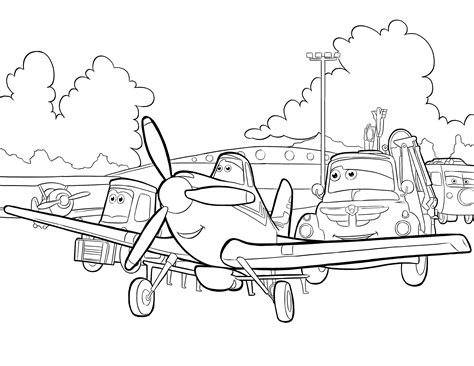 Coloring Pages Of Planes - Eskayalitim