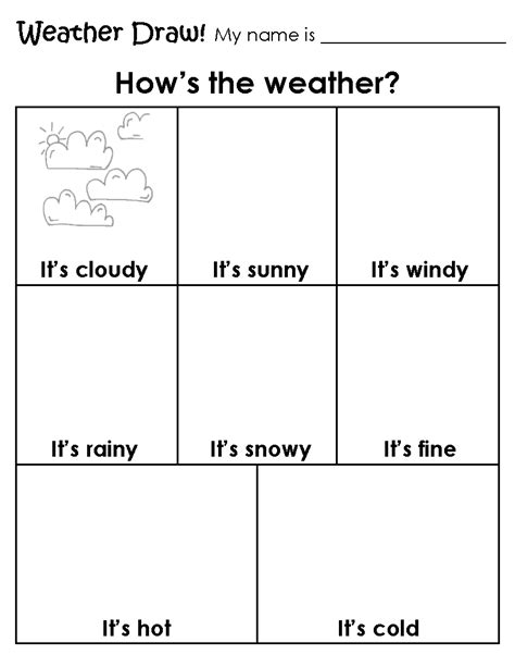 1st grade weather worksheets worksheets for all