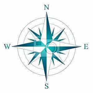 Nord West Ost Süd : wind stieg mit der bezeichnung von nord s d west und ost vektor fototapete fototapeten ~ Markanthonyermac.com Haus und Dekorationen