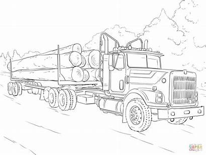 Semi Coloring Pages Truck Printable Getcolorings