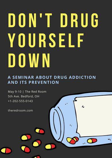 contoh poster anti narkoba canva