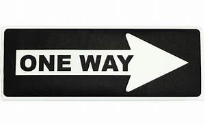One Way Sign Fabric Wall Art