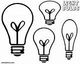 Bulb Coloring Light Pages Clipart Bulbs Lightbulb Different Shapes Drawings sketch template
