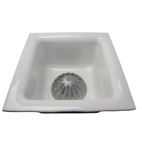 gsw porcelain cast iron floor sink xx  drain