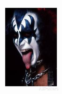 KISS - Gene Simmons Demon Tongue 1977 Premium Poster ...