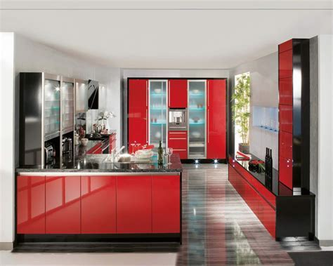Red High Gloss Kitchen Cabinets ? TEDX Designs : The Best