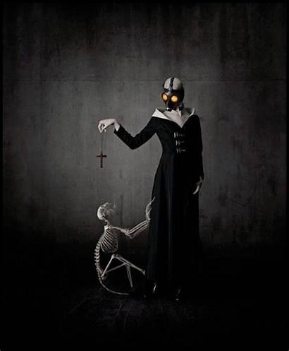 Dark Artwork Gas Masks Digital Surreal Horror