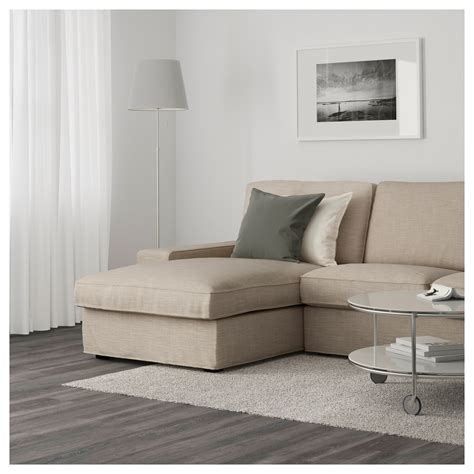 kivik two seat sofa and chaise longue hillared beige ikea