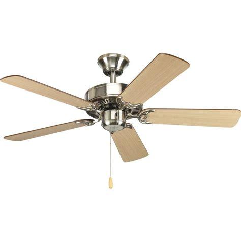 quick install ceiling fan progress lighting airpro builder 42 in brushed nickel