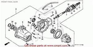 Honda Trx350 Fourtrax 4x4 1986 Usa Parts Lists Images