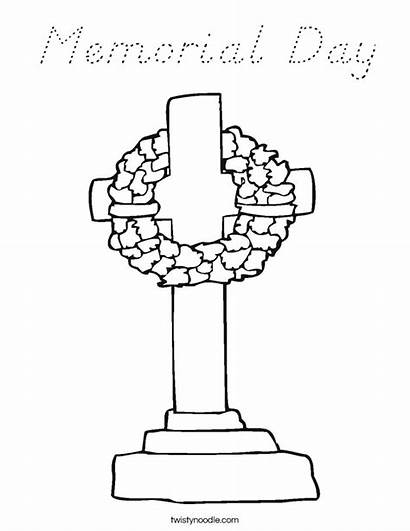 Memorial Coloring Pages Poppy Font Nealian Remembrance