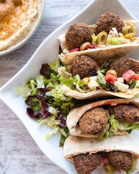 Falafel Pita Sandwich - Six Hungry Feet - Recipes - Vegan