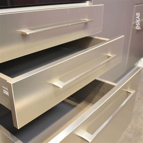 meuble cuisine inox brosse poign 233 e de meuble de cuisine n 176 13 inox bross 233 29 6 cm entraxe 288 mm sokleo oskab