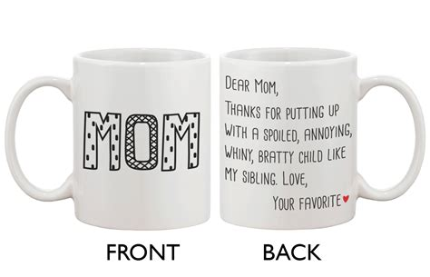 If your mom is a workaholic, we have numerous gifts for business women such as mother's day coffee mugs for them to drink their liquid gold between meetings and. Cute Ceramic Coffee Mug for Mom - Dear Mom From Your Favorite 11oz Mug Cup - Walmart.com ...