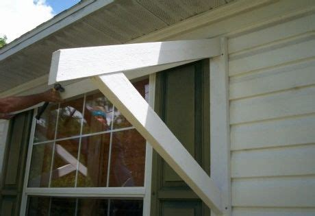diy window awning wood bracket home projects pinterest wood brackets window awnings