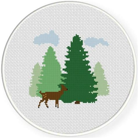 forest fawn cross stitch pattern daily cross stitch