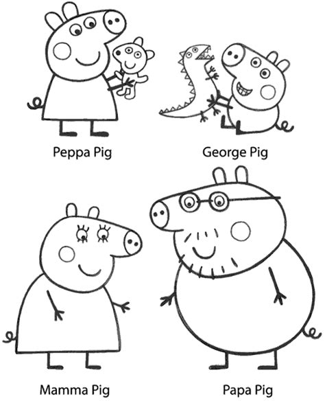 Peppa colouring books 17 to print and color for free