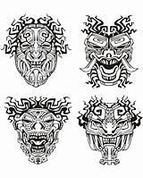 Aztec Coloring Mayan Pages Mask Masks Inca Adult Mayans Incas Aztecs Adults Inspiration Printable Pattern Maya Calendar Template Culture Warrior sketch template