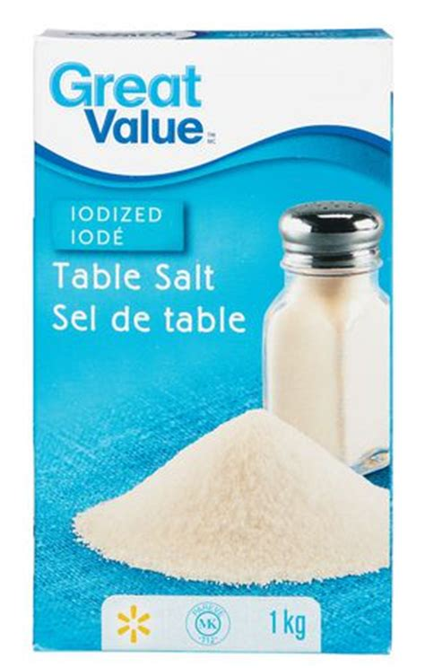 salt ls walmart canada great value iodized table salt walmart canada