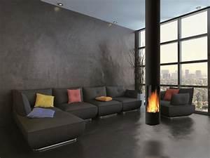 Cheminée Bois Design : chemin e moderne design efficacit style ~ Premium-room.com Idées de Décoration