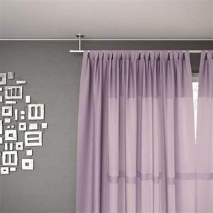 Barre Rideau Fixation Plafond : tringle rideau fixation au plafond inox mat 160 cm ~ Premium-room.com Idées de Décoration