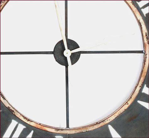 cuisine d usine grande 122cm horloge ronde geante en fer metal murale d