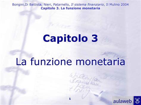 economia degli intermediari finanziari dispense funzione monetaria dispense