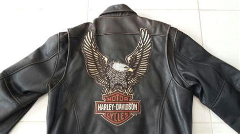 jual jaket kulit asli  pria model harley davidson