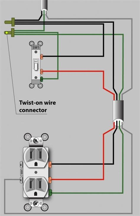 an electrician explains how to wire a switched half hot