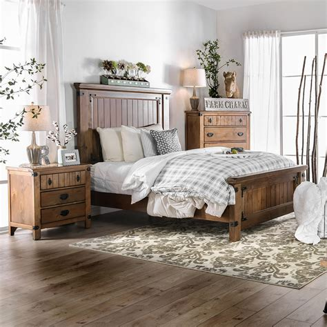 country bedroom furniture furniture of america sierren country style 3 bedroom 11305
